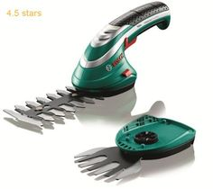 (Rating: 4.5 stars) Bosch Isio Cordless Shrub and Grass Shear Set This is a great pick from the highest selling products online in Home Garden  category. Click below to see its Availability and Price in your country.
