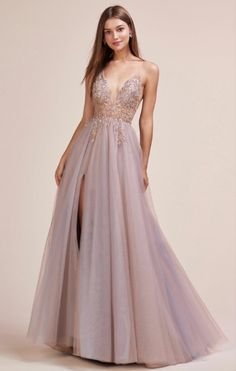 May 2019 - Andrea & Leo Couture Ophelia Bead Strap Tulle Gown – Sparkly Gowns Pretty Prom Dresses, Best Prom Dresses, Grad Dresses, Ball Dresses, Elegant Dresses, Homecoming Dresses, Cute Dresses, Ball Gowns, Formal Dresses