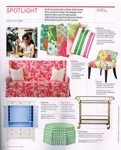 Lilly Pulitzer Furniture Beauteous Lilly Pulitzer Furniture Available Through Horchow Mod Furniture Inspiration Design
