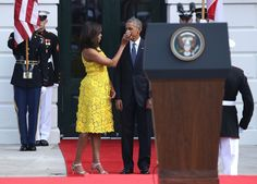 Pin for Later: Michelle Obama's Dress Will Inspire Your New Favorite Color