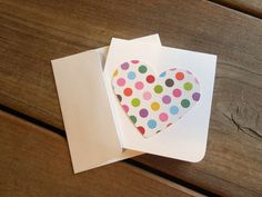 Kid's Valentine's Day Cards-Heart Cards-Valentines Cards by Lemon Drops & Lilacs on etsy.com