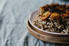 Persischer Linsen-Reis mit Tadig & Ofengemüse - vegan - gluten free |Persian Rice - pumpkin - beetroot - caraway - lentils Gluten, Vegan, Free, Rice Dishes, Recipes, Lentils, Easy Meals