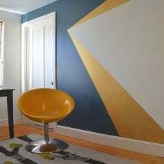 30 Paredes com pinturas geométricas para você se inspirar   chataspradecorar.com.br                                                                                                                                                      Mais