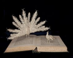 "Photographic Print of Book Sculpture 'The Courtship of Animals' 10"" x 8"""