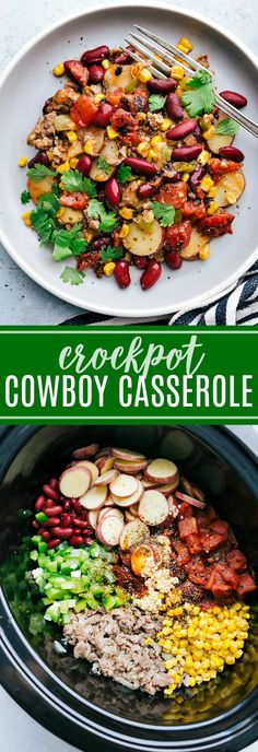 The ultimate BEST EVER Crockpot Cowboy Casserole! A super easy and quick ONE DISH dinner! via chelseasmessyapro… The ultimate BEST EVER Crockpot Cowboy Casserole! A super easy and quick ONE DISH dinner! via chelseasmessyapro… Crock Pot Recipes, Slow Cooker Recipes, Chili Recipes, Easy Recipes, Easy Healthy Crockpot Recipes, Best Crockpot Recipes Ever, Best Crockpot Meals, Sausage Crockpot Recipes, Dinner Crockpot