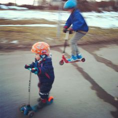 Spring feelings! (österåker, södermanland, made in sweden, kickbike, kids)