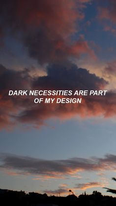Dark Necessities//lightscreens on Tumblr.