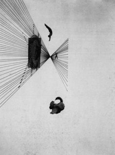 kvetchlandia:  László Moholy-Nagy     Leda and the Swan      1925