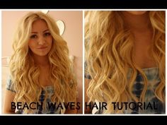 ▶ BEACH WAVES HAIR TUTORIAL / curling wand PERFECT VICTORIA SECRET/HOLLISTER HAIR - YouTube