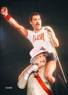 Imagen inédita de The Queen soportando a Queen ... Queen, Baseball Cards, Humor
