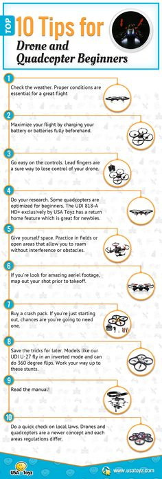 Top 10 Tips for drone and quadcopter beginners