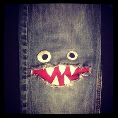 Monster patched jeans for the boys