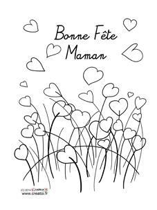 Des coloriages pour Maman | La Fête des Mères | CRÉATOI | Le nouveau site original et gratuit d'activités manuelles pour les enfants