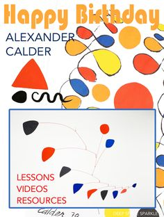 This new 17-page PDF Alexander Calder lesson plan includes a biography, fun facts about Calder, and a full lesson plan for children ages 7-9.