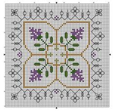 Photo by Esmeralda Del rio Biscornu Cross Stitch, Free Cross Stitch Charts, Cross Stitch Embroidery, Cross Stitch Designs, Cross Stitch Patterns, Square Patterns, Filet Crochet, Pin Cushions, Creative Inspiration