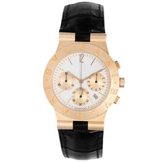 Bulgari Yellow Gold Diagono Chronograph Wristwatch e4df4bcbf92