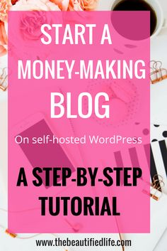 Start a blog on WordPress and start making money with your blog right away! A Step-by-Step tutorial to start a profitable blog. It will walk you through every step of starting a money-making blog.