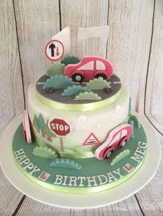 Boys 16th Birthday Cake, Birthday Cakes, Pastel, New Drivers, Cakes For Men, Celebration Cakes, Cake Decorating, Sweet Treats, Cake Ideas