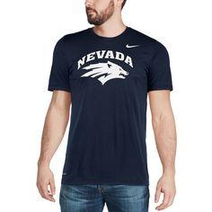 Nevada Wolf Pack Nike Legend Logo Sideline Performance T-Shirt - Navy Nevada Wolf Pack
