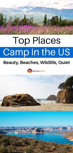 If you are starting to plan those memory-making trips and campouts this summer, go somewhere new. Have you heard of these spots? They are great for families, couples, and even solo. Don't miss out on these amazing camping destinations. Us Travel Destinations, Camping Spots, Beach Camping, Camping Tips, Weekend Camping Trip, Best Places To Camp, Travel Inspiration, Travel Ideas, Budget Travel