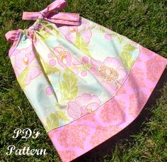 "Pillowcase Dress Pattern, Girls Dress Pattern, Easy Sewing PDF Patterns, Sewing Patterns, Baby Dress Sewing Pattern 3m-8 ""Kaylee Dress"" on Etsy, $6.00"