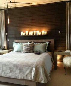 Warm bedroom design
