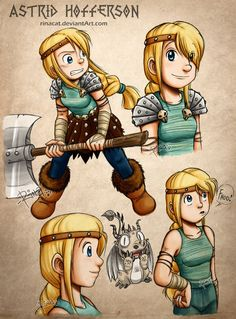 HTTYD: Astrid Hofferson Artwork by rinacat