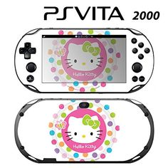 Decorative Video Game Skin Decal Cover Sticker for Sony PlayStation PS Vita Slim PCH2000  Hello Kitty Rainbow Polka Dot Princess ** You can get more details by clicking on the image.Note:It is affiliate link to Amazon.