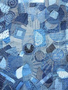 shashiko naaien sewing denim indigo blue diy
