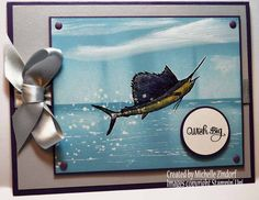 Marlin – Stampin' Up! Card created by Michelle Zindorf using the From Land and Sea Stamp Set|