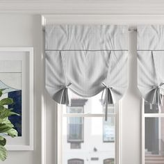 Foundstone Hanna Tie Up Shade Window Valance Color: Cranberry Tie Up Valance, Balloon Valance, Tie Up Curtains, Rod Pocket Curtains, Panel Curtains, Valances, Blackout Roman Shades, Diy Roman Shades, Valance Patterns