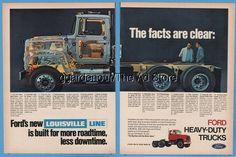 1970 Ford Louisville line L Series Truck Kentucky vintage magazine print ad