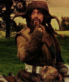 Bofur is so helpful.  Need a hankie, Bilbo? Here, use my undies!