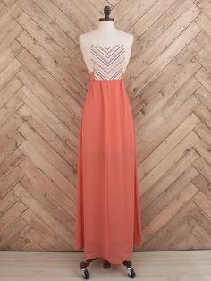 Tribal Embellished Maxi Dress - Maxi - Dresses - Apparel