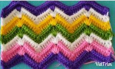 Discover thousands of images about kabartmali-rengarenk-zikzak-battaniye-modeli-yapilisiThis Pin was discovered by gulThere are numerous different ways in which you can crochet zig-zags.Crochet new stitch videoBaby Blanket Model That You Will Never See An Zig Zag Crochet, Crochet Ripple, Baby Blanket Crochet, Free Crochet, Knit Crochet, Crochet Afghans, Crochet Stitches Patterns, Crochet Designs, Stitch Patterns