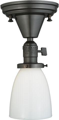 """0-014364>5""""""""w Chelsea Paddle Socket 1-Light Flush Mount X Opal White"""
