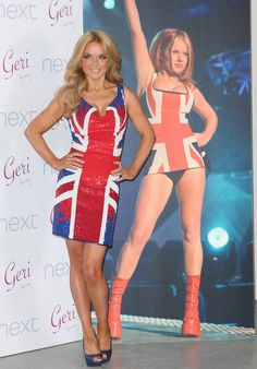Ginger spice in the Union Jack dress,
