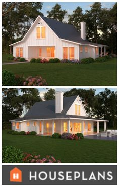 Modern and traditional, Plan 888-7. The farmhouse of your dreams! #houseplans