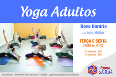 Novo horário de yoga