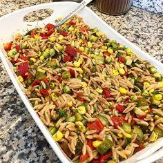 Fried Rice, Pasta Salad, Fries, Vegetables, Ethnic Recipes, Food, Instagram, Crab Pasta Salad, Vegetable Recipes