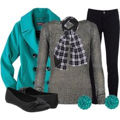 """Would love this in pink or purple instead :)  """"Pop of Color Pea Coat"""" by qtpiekelso on Polyvore"""
