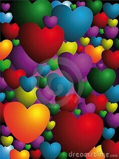 Hearts in Rainbow colours I Love Heart, Happy Heart, World Of Color, Color Of Life, My Funny Valentine, Valentines, Heart Wallpaper, Love Symbols, Over The Rainbow