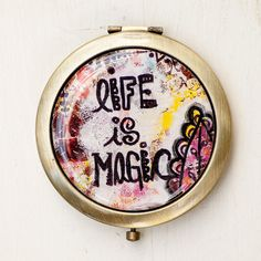 Magic Compact Mirror, Purse Mirror, Pocket Mirror, Affirmation, Mirror with Motivation, Gift for Sister, Teen Gift, Gift for Her