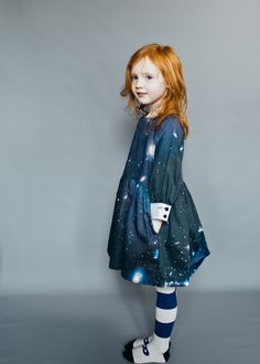GORGEOUS DIGITAL PRINT GALAXIES ALL OVER LOVE DRESS. DOVE GREY. 100% WOVEN COTTON. *last one!!!