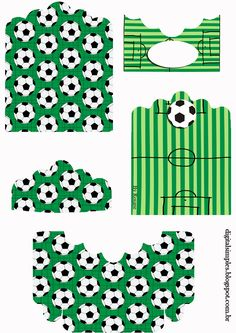 Futbol: Soporte para Golosinas para Imprimir Gratis.