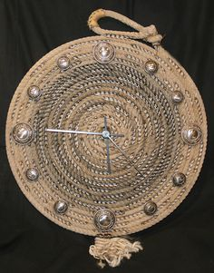 Rope Clocks made with lariat rope, western clocks by Jus Ropen Kreations