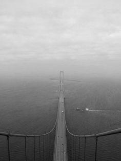 The Øresund Bridge, the longest bridge in Europe. It connects Denmark and Sweden.