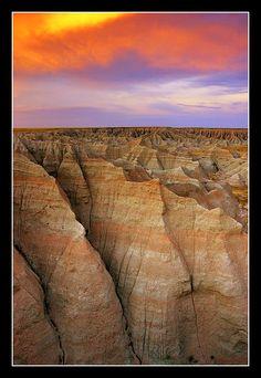 Sunset over the Badlands - Badlands National Park, South Dakota