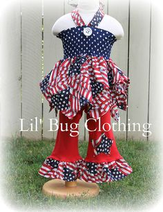 Custom Boutique Clothing 4th of July by LilBugsClothing on Etsy, $47.50