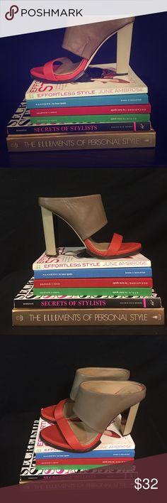 BCBG Heels 8.5 (38.5) BCBG MAXAZRIA Heels with a triangular shape heels. Great summer shoe. Very comfortable. No marks. BCBGMaxAzria Shoes Heels